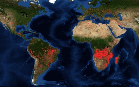 Põlengud maailmas 27. augustil.
