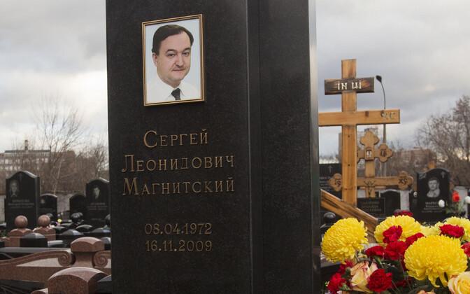 Sergei Magnitski hauakivi Moskvas.