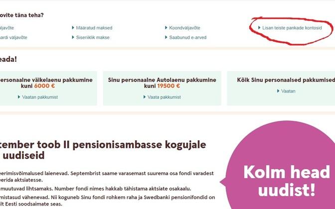 Swedbanki internetipangas saab oma SEB kontoinfoga juba tutvuda. Makseid algatada aga veel ei saa.