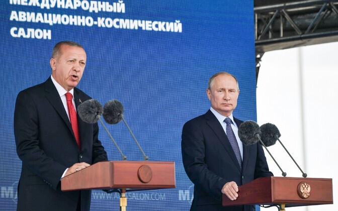 Erdogan ja Putin teisipäeval Moskvas.