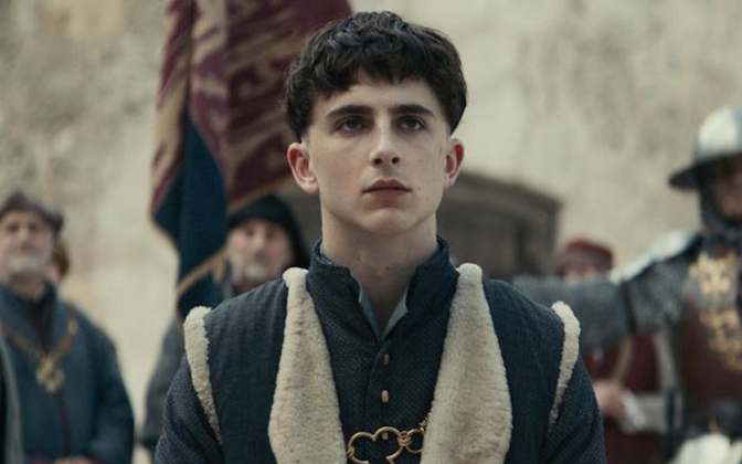 Timothée Chalamet Henry V rollis filmis
