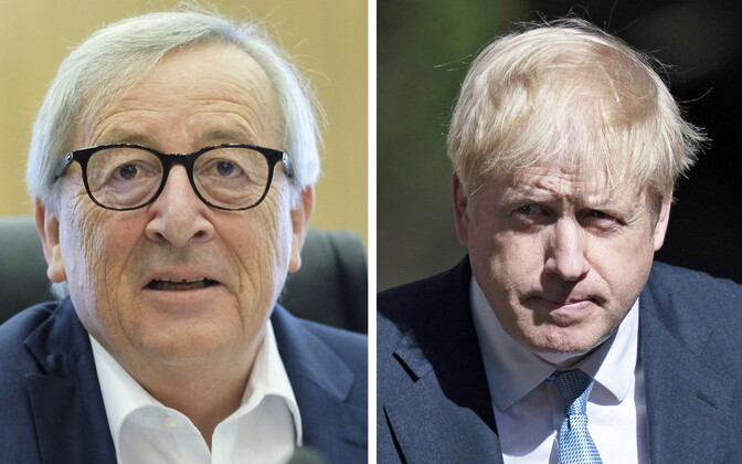 Jean-Claude Juncker ja Boris Johnson.