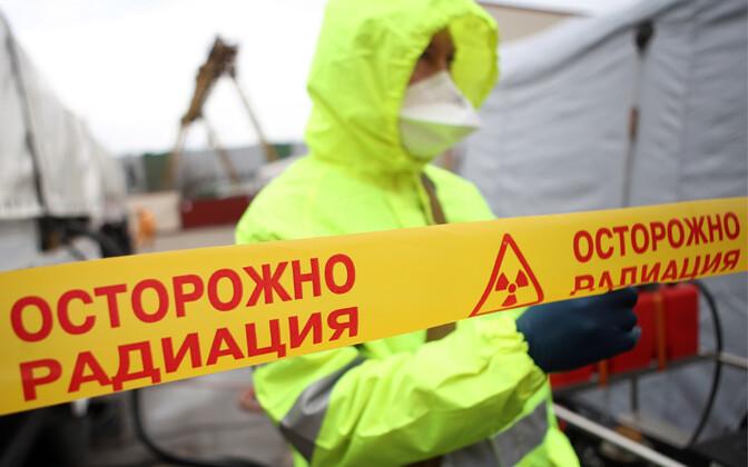 Venemaa päästetöötaja õppusel.