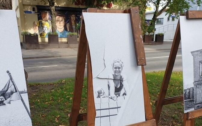 Вандалы ломают уличные выставки в районе Пыхья-Таллинн.
