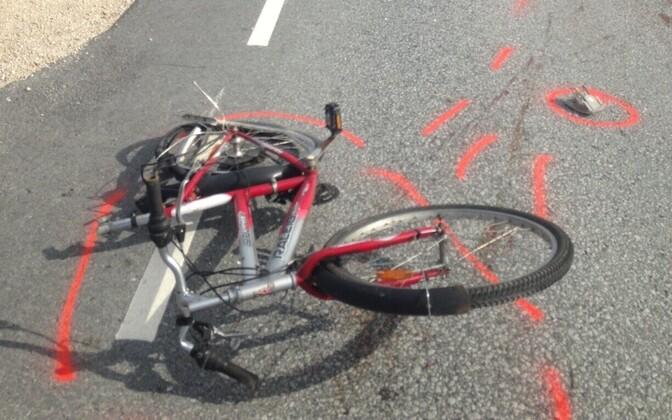 Один из велосипедистов скрылся с места происшествия. Иллюстративная фотография.