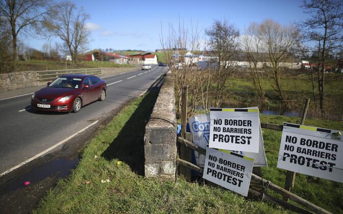 Piir Põhja-Iirimaa ja Iiri Vabariigi vahel Middletownis.