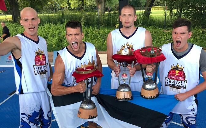 Eesti 3x3 korvpalli meeskond tegi ajalugu ja võitis esmakordselt maailmaturnee