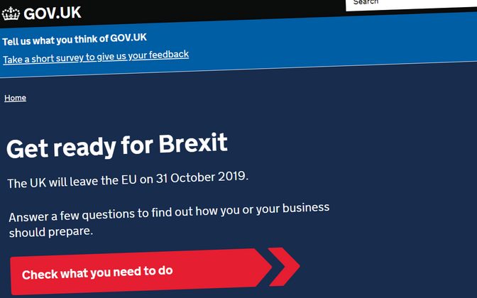 The UK government is urging people to get ready for Brexit.