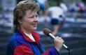 Spordireporter Anu Säärits 1995. aastal