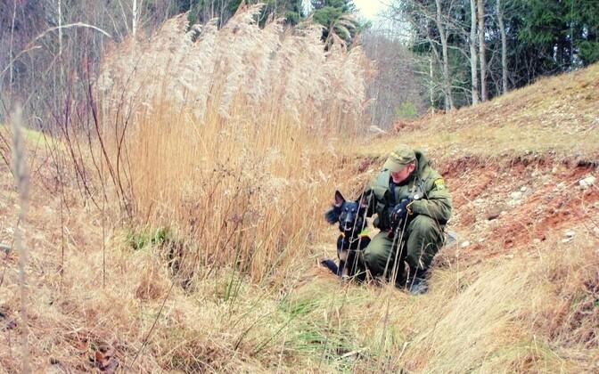 Нарушителей удалось задержать с помощью служебной собаки Ахто.