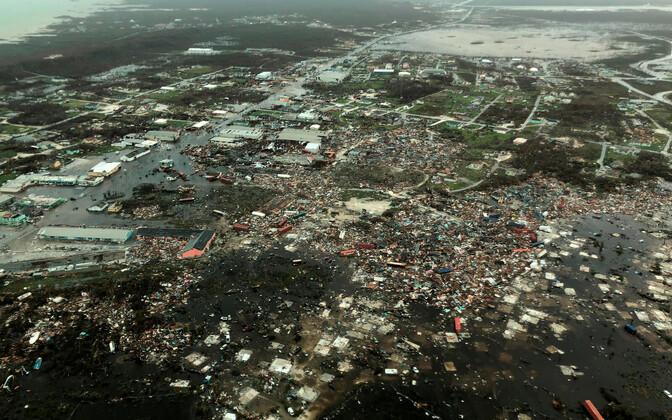Ülelennul tehtud fotolt on näha Doriani tehtud hävitustöö Abaco saarel.