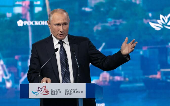 Venemaa president Vladimir Putin Vladivostokis majandusfoorumil.
