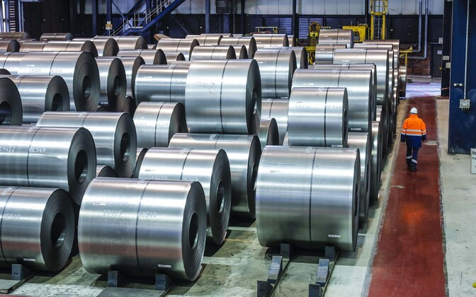 ThyssenKrupp Steel terasetehas Duisburgis Ruhri piirkonnas Saksamaal.