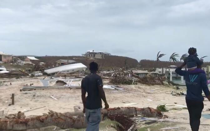 Orkaani hävitustöö jäljed Abaco saarel.