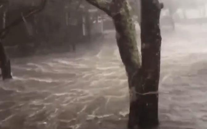Orkaan Dorian Ocracoke`i saarel.