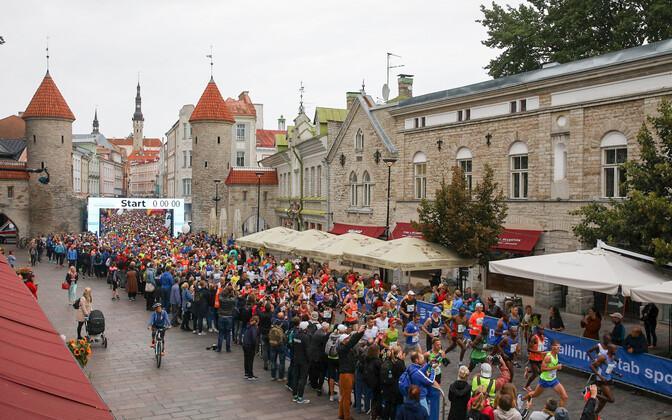 Tallinna maratoni start 2019