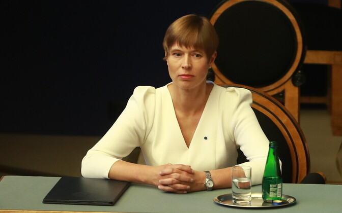President Kersti Kaljulaid at the opening of the new Riigikogu session.