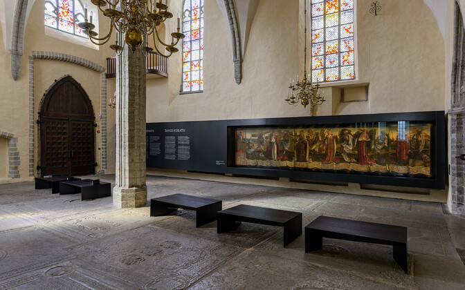 """Bernt Notke maali """"Surmatants"""" uus ekspositsioon - Liis Lindvere."""