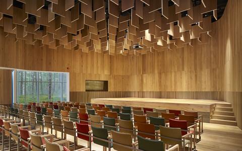 Arvo Pärdi keskus - autorid: Fuesanta Nieto, Enrique Sobejano (Nieto Sobejano Arquitectos); kohalik partner: Angela Talumets, Kristina Kurro, Tanel Teder, Ra Luhse (Arhitektuuribüroo Luhse & Tuhal).