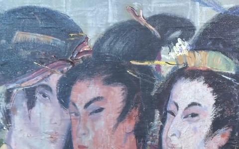 Jaapani-teemaline näitus Pärnu Uue Kunsti muuseumis.