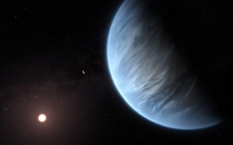 Pilt eksoplaneedist K2-18b.