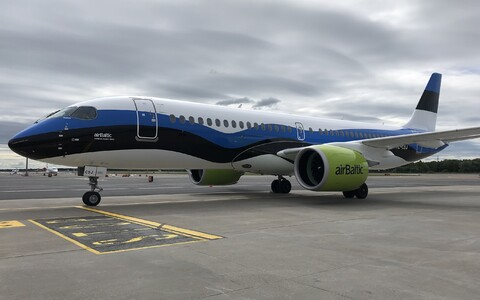 Air Baltic plane based in Tallinn, which now also bears the name of the city.