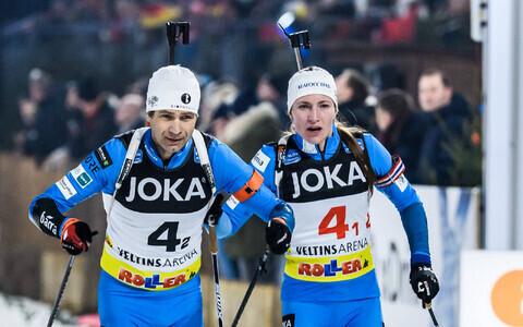 Ole Einar Björndalen ja Darja Domratševa