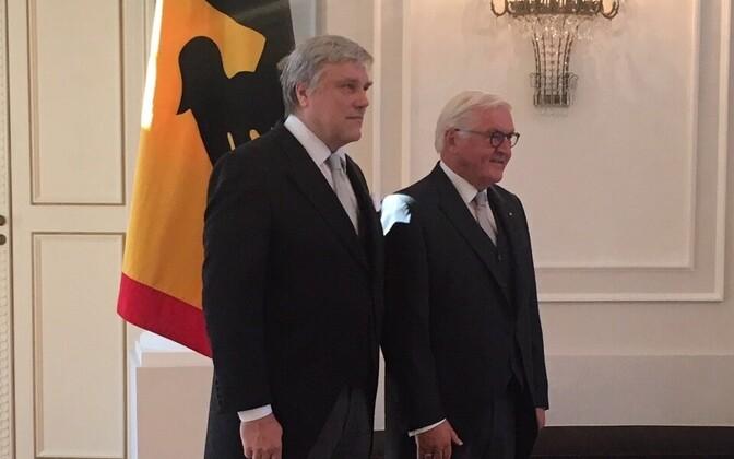 Alar Streimann ja liidupresident Steinmeier