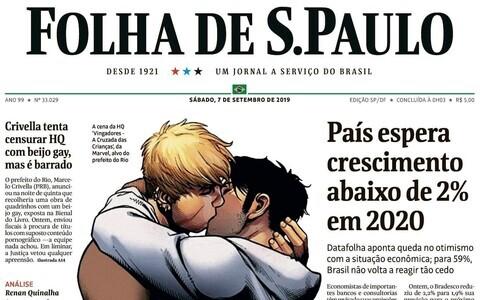 Rio de Janeiro linnapea tahtis ära keelata Marveli koomiksit, mis kujutab geisuudlust, mille kohalik ajaleht avaldas vastusena oma esikaanel.