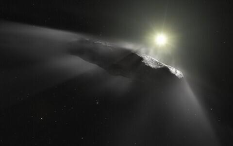 Teisest planeedisüsteemist pärit komeet kunstniku nägemuses.