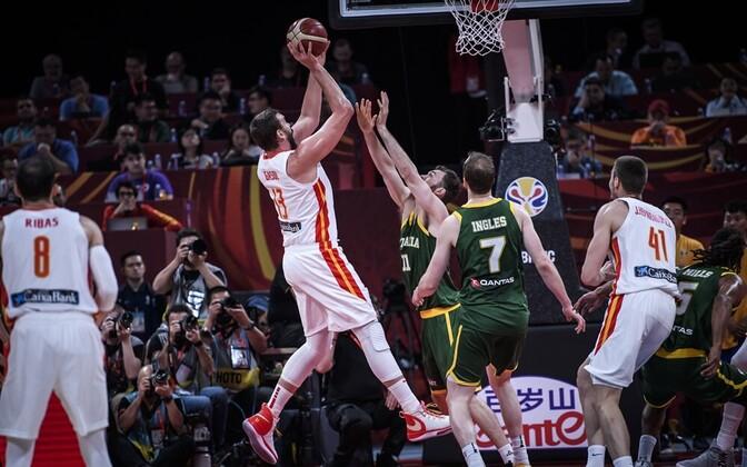 Hispaania ja Austraalia korvpallikoondised MM-il