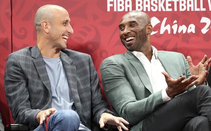 Kobe Bryant Argentina korvpallikuulsuse Manu Ginobiliga