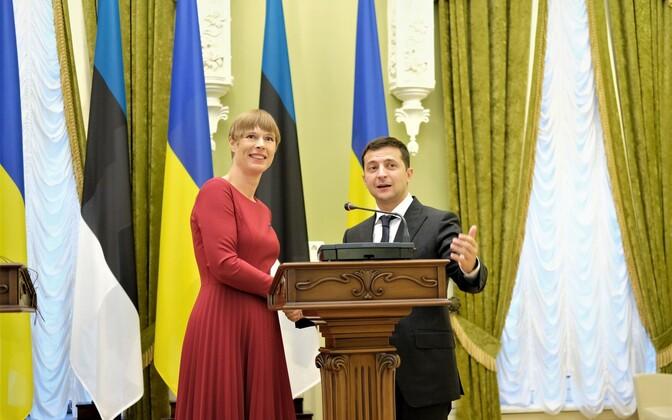 Kersti Kaljulaid ja Volodõmõr Zelenski.