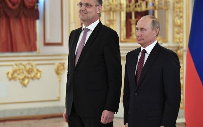 Markus Ederer 2017. aastal volikirja üleandmise tseremoonial Moskvas koos Vene president Vladimir Putiniga.