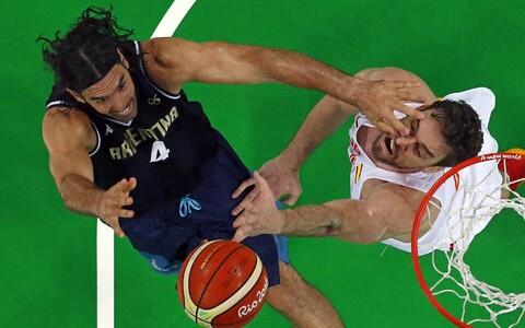 Luis Scola ja Marc Gasol Rio olümpiamängudel
