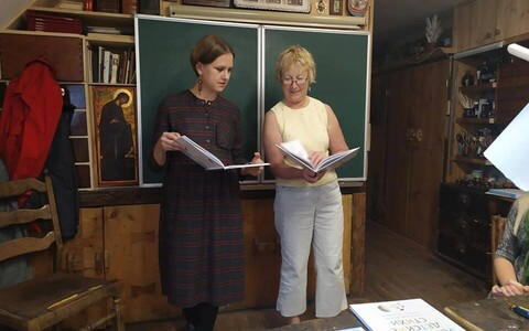 Эстонский язык Катя Новак (слева) выучила на курсах.