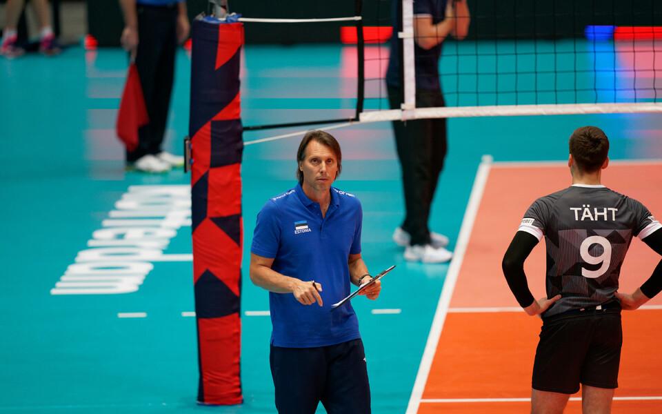 Eesti võrkpallikoondise peatreener Gheorghe Cretu ja nurgaründaja Robert Täht on nõutud.