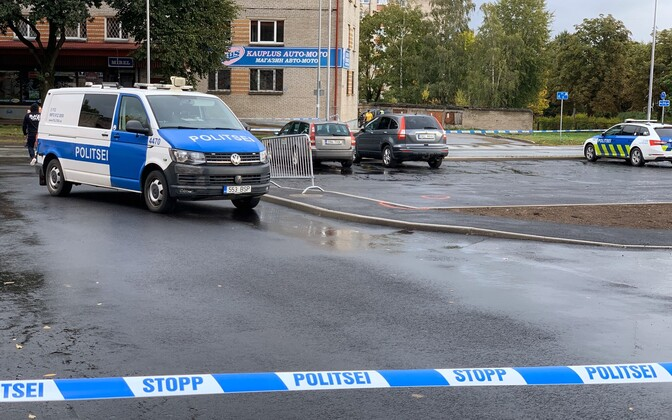 Scene of the shooting in Narva. Sept. 16, 2019.