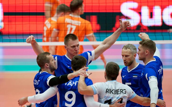 Сборная Эстонии выиграла первую партию, но уступила в следующих трех.