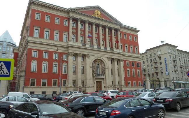 Здание правительства Москвы.