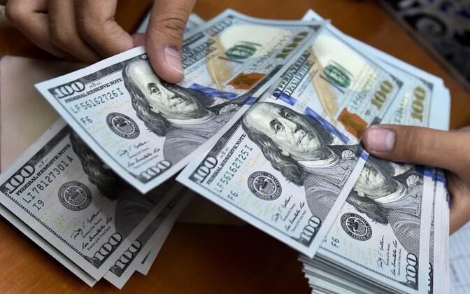 $100 (USD) bills.