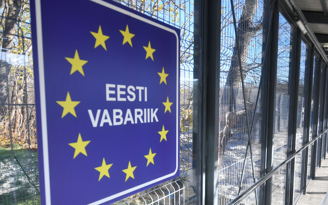 The Narva-2 border crossing on the Estonian-Russian border
