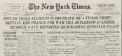 Ajalehe New York Times esikülg teatas 20. septembril 1939, et Nõukogude laevastik on Eesti ranniku lähistel.