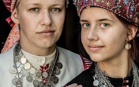 Setos Evelin Leima and Maria Grünberg, as captured by British photographer Jimmy Nelson.