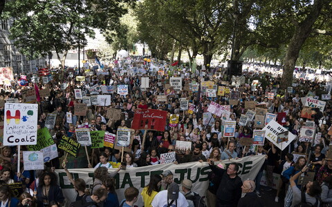 Акция протеста в Лондоне.