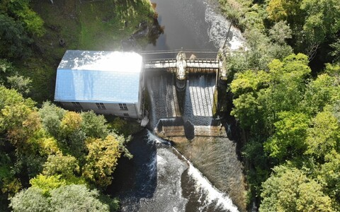 Гидроэлектростанция в Кунда.