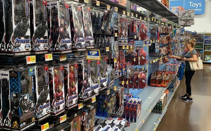 Hiinas toodetud mänguasjad Los Angeleses poes.