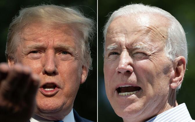 USA president Donald Trum ja tema võimalik peakonkurent eelseisvatel presidendivalimistel, endine asepresident Joe Biden