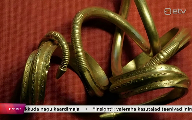 The recently-discovered third century gold bracelet.