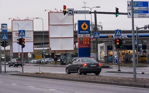 Дорога, ведущая в Таллиннский аэропорт.